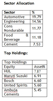 Sector-allocation-and-top-holdings-20160115
