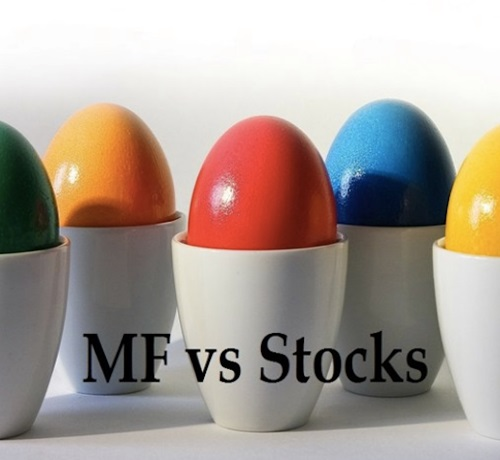 Mutual funds v/s Stocks