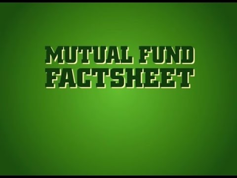 Evaluation of mutual fund factsheet
