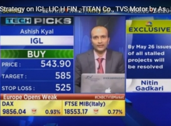 Trading Strategy on IGL, LIC H FIN., TITAN Co., TVS Motor by Ashish Kyal on CNBC TV18