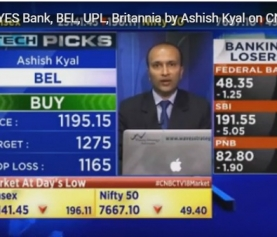 Tech Picks YES Bank, BEL, UPL, Britannia by Ashish Kyal on CNBC TV18