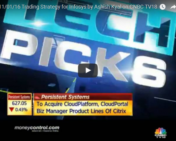 Watch Ashish Kyal discussing short term trading strategy for Infosys Live on CNBC TV18